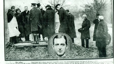 A newspaper report on the funeral of Dr Angel