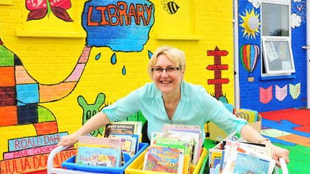Library manager Lesley Gooch.
