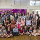 Beryle Tozer celebrating her 100th birthday party at St Paul's Church Hall in East Ham with her fami