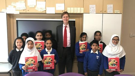 Stephen Timms MP with Sir John Heron Primary School pupils Picture: The Brilliant Club