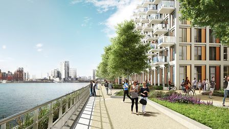 Computer generated images of the Royal Wharf development