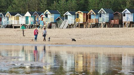 Beach huts at Wells next the Sea. Picture: Peter Salmon.