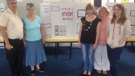 An exhibition was held to raise awareness of deafness.
