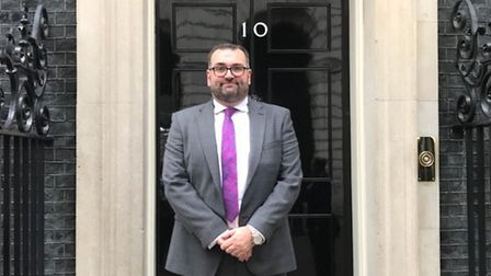 Paul Harris outside 10 Downing Street Picture: Tapscott Learning Trust