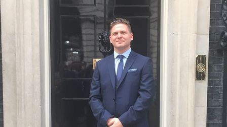 Lee Bradbury outside 10 Downing Street Picture: BMAT