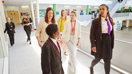 Pupils at Lister Community School speak about mental health Picture: Newham Council
