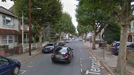 A 17-year-old boy was stabbed in Terrace Road yesterday. Pic: Google