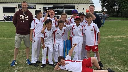 The boys team from James Oglethorpe Primary School who were crowned champions at a Kwik Cricket tour