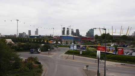 The area around Dock Road where the new Silvertown Tunnel portal will be sited. Picture: Ken Mears