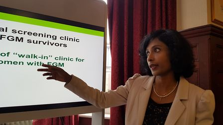 Dr Reeba Oliver, Consultant Obstetrician and Gynaecologist at Barts Health NHS Trust, at the launch