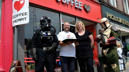 The first anniversary is celebrated at Coffee Heart in Lowestoft. Pictures; MICK HOWES