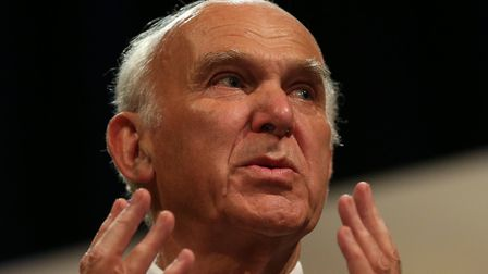 Sir Vince Cable, leader of the Liberal Democrats. Photo: PA