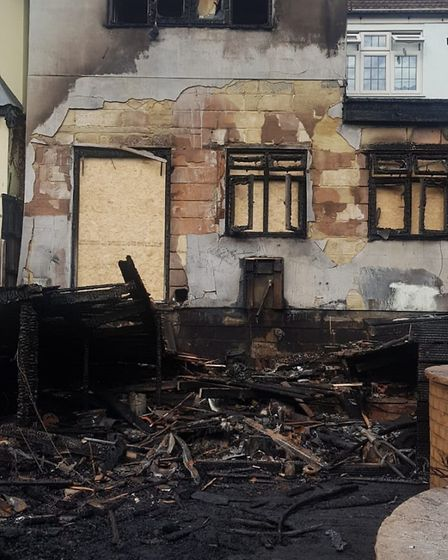 A fire caused by overheated electrical cables caused a fire at the back of a home in Northumberland