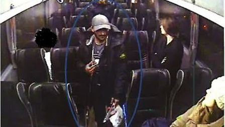 CCTV footage of Muhammad exiting a coach in Glasgow. Picture: CPS