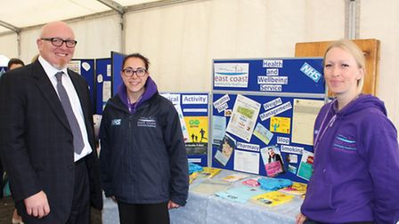 Chief executive Jonathan Williams with members of ECCH's Health Promotion team