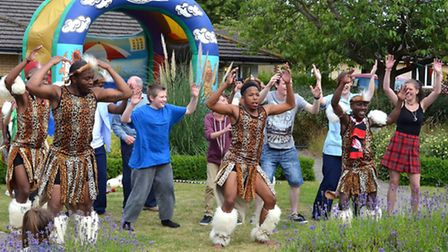 Zulu Warriors at Oulton Park Care Centre.