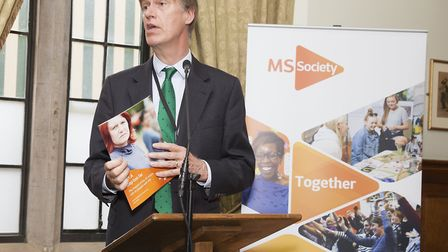Stephen Timms speaking at the event, which he co-hosted with the MS Society. Picture: Rebecca Cresta
