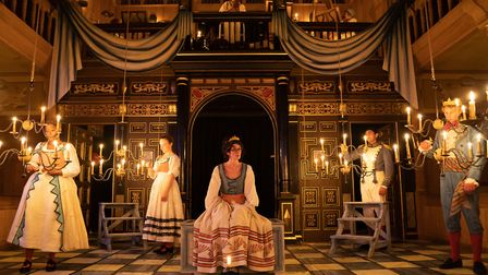 Love's Labour's Lost directed by Nick Bagnall in the Sam Wanamaker Playhouse. Picture: Marc Brenner