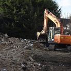 Hare Lodge being demolished in Gidea Park