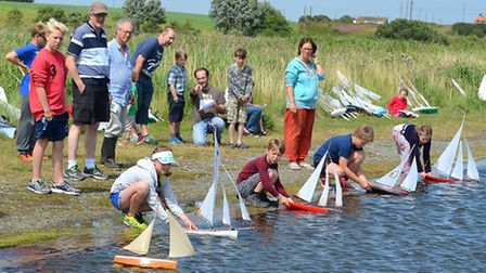 Southwold Model Yacht Regatta. The start of the 2015 season. Pictures: MICK HOWES