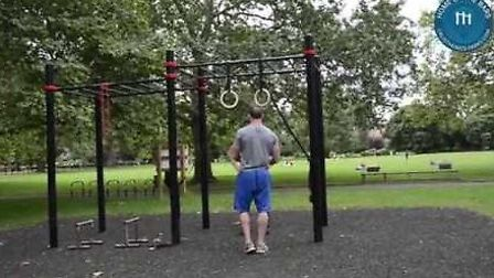Adult monkey bars are already in operation at Kennington Park. Picture: calisthenics-parks.com