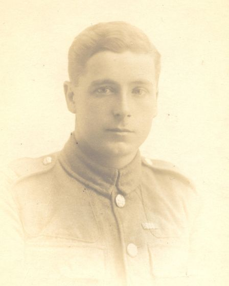 An enhanced photo of the unnamed First World War soldier, Alison Botteril is trying to identify.