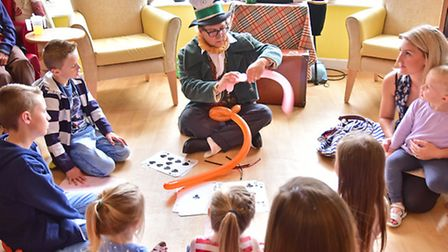 Lilac Lodge care home mad hatters tea party.Picture: ANTONY KELLY