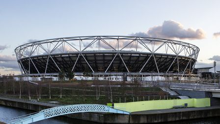 The Olympic Stadium will turn blue tonight for the NHS. Picture: John Walton/PA