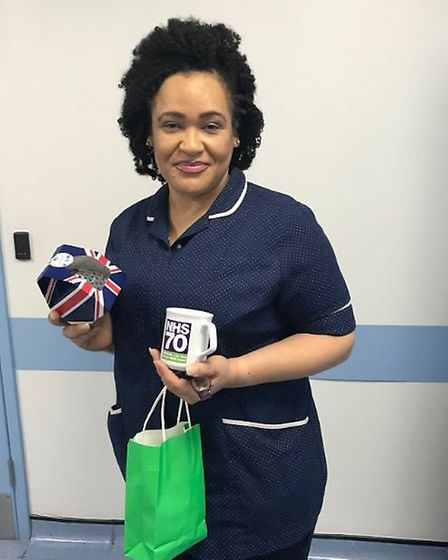 Gabriella Oguntoye who works in the haematology day unit. Picture: @NewhamHospital