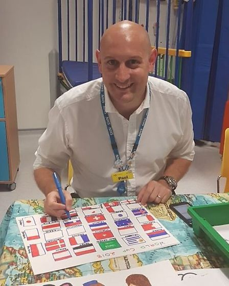 Head of finance at the hospital, Paul Kimber, joining in with the celebrations. Picture: @NewhamHosp