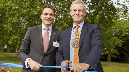 The opening of the wildlife garden extension at West Ham Park. Picture; Clive Totman