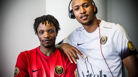 Grime artists turned footballers Youngs Teflon and Margs. Picture: Garry Castle