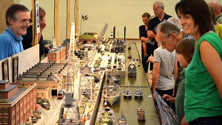 The 27th Southwold Model Railway Exhibition at Saint Felix School.Southwold Model Railway Exhibition