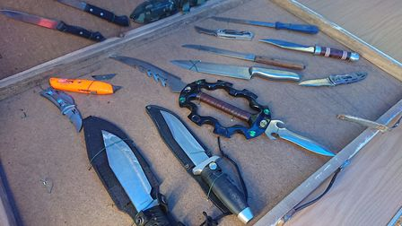 These knives were taken off children in the borough. Picture: Ellena Cruse