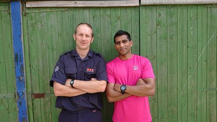 Firefighter John Webster of Walthamstow Green Watch led a session on safety along with 'knife robber
