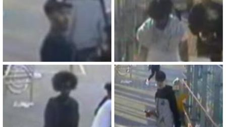 Police would like to identify these four men in connection with a robbery at Abbey Road DLR station