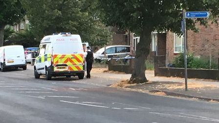 Hilldene Avenue was taped off on Wednesday, July 11 while police investigated reports that an air ri