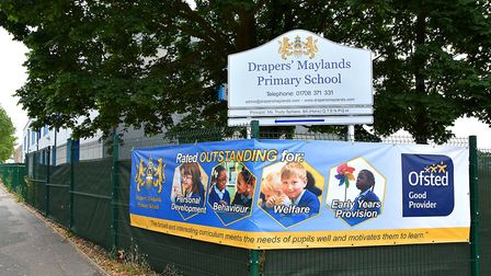 Pupils and staff at Drapers' Maylands Primary School celebrated their Good Provider Ofsted rating fo