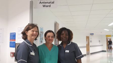 L-R: Claire Homeyard consultant midwife, Caoilin Maclaverty consultant obstetrician lead for antenat