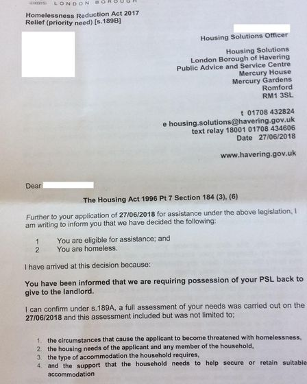 The council has now said that these letters sent to residents are no longer valid and that new lette