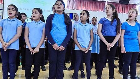 Children had just one week to rehearse their songs and drama performances. Picture: Essex Primary
