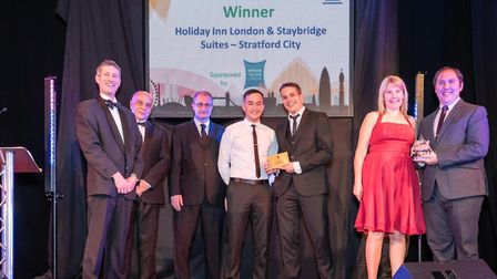 Last year's winners of the Training and Development award, the Holiday Inn in Stratford. Picture: Il