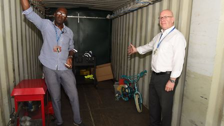 The shipping container was found with just 12 bikes, when there should have been 30. Picture: Ken Me