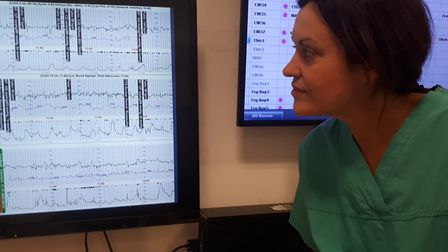 Caoilin Maclaverty consultant obstetrician lead for antenatal care looking at Queen's Hospital's spe