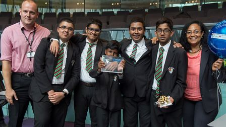 Pupils from the winning secondary school, Langdon Academy in East Ham. Picture: Ben Stevens/i-IMAGES
