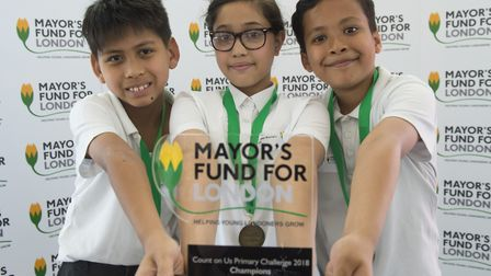Pupils from the winning primary school, Mayflower Primary in Poplar. Picture: Ben Stevens/i-IMAGES