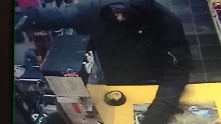 CCTV footage of Farooq in one of the shops Picture: Met Police