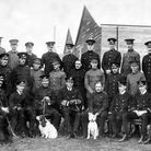 A group photograph of staff and pupils of the first course to pass through the Central Flying School
