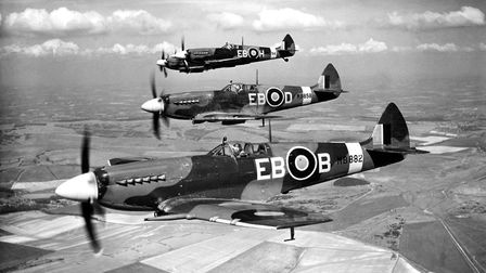 41 Squadron Supermarine Spitfire F.XII aircraft. Picture: Air Historical Branch-RAF