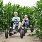 Southwold Maize Maze which has opened for business. The maze has a heritage railway theme.The go kar